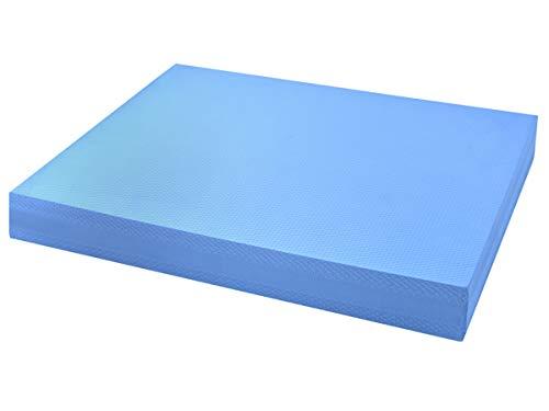 Iso Trade Balance Board Schaumstoff Pad Wackelkissen Schwarz 50x38x6cm rutschfest Angenehm 4079, Farbe:Blau