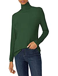 Marca Amazon - Daily Ritual Rayon Spandex - Camiseta de Manga Larga Para Cuello Alto - shirts Mujer