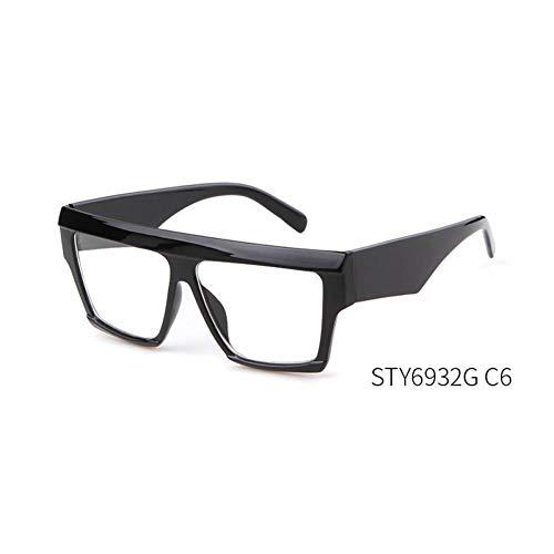 Taiyangcheng Sonnenbrillen Damen Square Steampunk Sonnenbrillen Herren,C6 schwarz weiß