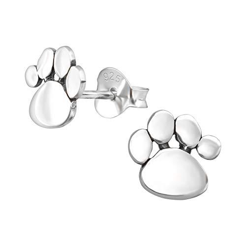 2be623e252f7 Jojo   Pippa Pendientes de plata de ley con diseño de huellas de pata