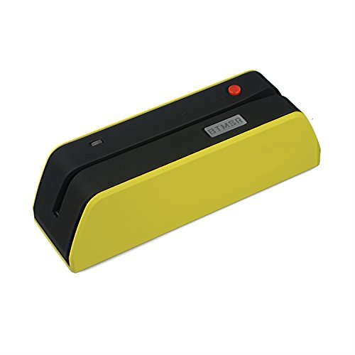 Posunitech amarillo MSR BTX6 PVC lector de tarjetas de banda magnética USB escritor Mag Data Collector