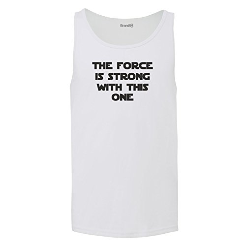 Brand88 - The Force Is Strong With This One, Unisex Jersey Weste Weiß
