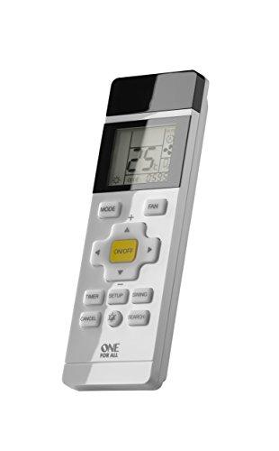 Telecomando universale condizionatore one for all– per climatizzatori - display lcd retroilluminato - funziona con tutte le marche - urc1035