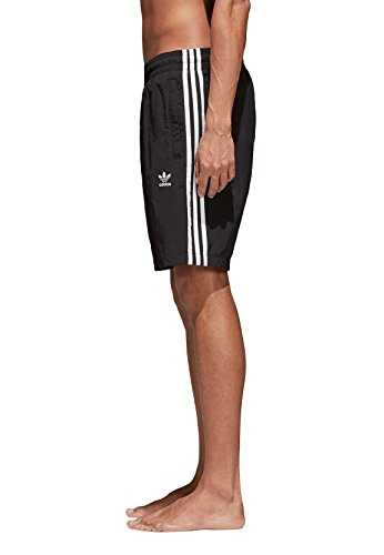 adidas Herren 3-Stripes Badeshorts Black