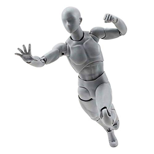 Sacow Action Figure Model, Human Mannequin Man Woman Kits for Sketching, Painting, Drawing, Artist, Kids, Cartoon Figures Action (F)
