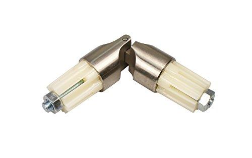 Edelstahl Gelenkverbinder für 20 mm Ø Gardinenstangen