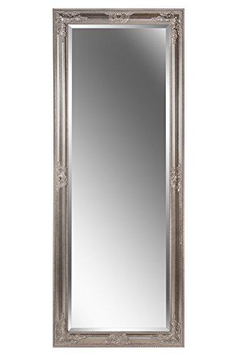 B.U.S. Wohnstyle GmbH Spiegel Wandspiegel Badspiegel JANA antik silber Barock 150 x 60 cm