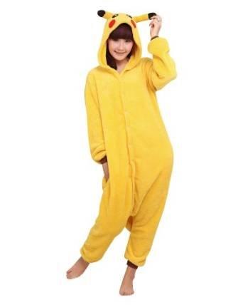 Schlafanzug Erwachsene Anime Cosplay Halloween Kostüm Kleidung Onesie-S Pikachu (Erwachsene Anime Cosplay)