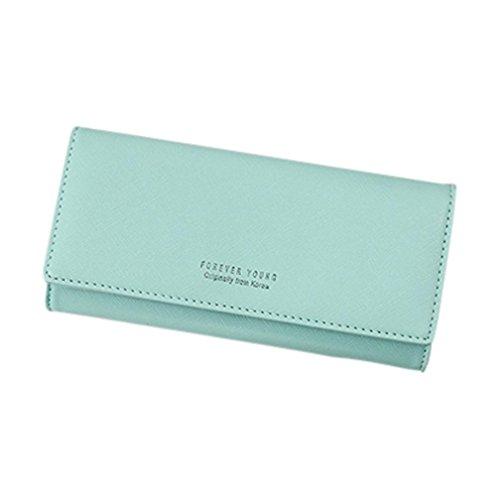 Portafoglio Donna, Tpulling Borsa della borsa del supporto della carta del raccoglitore della borsa della frizione delle donne (Black) Green