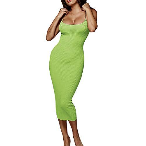Rückenfrei Kleider Solides ärmelloses langes Kleid aus Metall für Bierfest Geschenk vom Serria® (Grün,L) - Plus Krinoline Petticoat 26