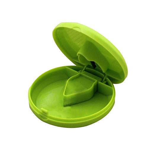 qiheiyipian Cortador Redondo Polvo triturador Tableta Medicina Tabletas Splitter Cortar (Verde)