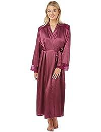 70d4c79af1 Indigo Sky Ladies Gorgeous Charmeuse Long Wrap Satin Dressing Gown