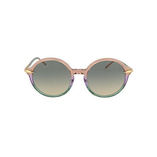 Pomellato pm0036s 003, occhiali da sole donna, viola (003-violet/multicolor), 54