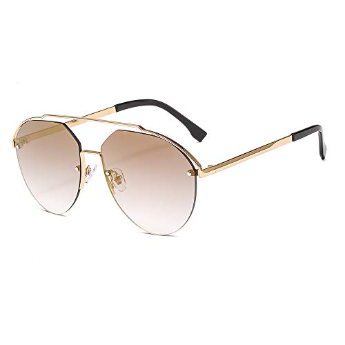LAEMILIA Herren Sonnenbrille Damen UV400 Schutz Gold