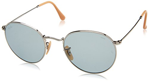 Ray-Ban RAYBAN Herren Sonnenbrille 0rb3447 9065i5 53, Silver/Photoblue