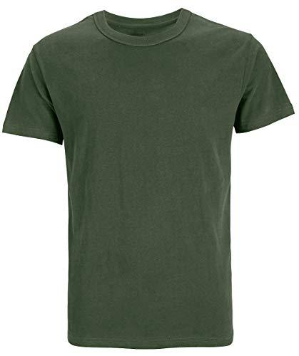 COSAVOROCK Herren Dicke Schwere Baumwolle T-Shirts (XXL, Armee-Grün) - Armee Ein T-shirt