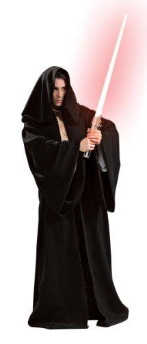 Halloween Dunkle Der Lord Kostüme (Star Wars Herren Kostüm Sith Robe mit Kapuze Größe)