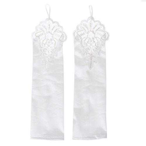 YO-HAPPY Frauen-Braut-Handschuhe Fingerlose Hohle Blumen-Handwear-Elegante Stickerei-Handschuhe, die Partei-Versorgungsmaterialien Wedding sind