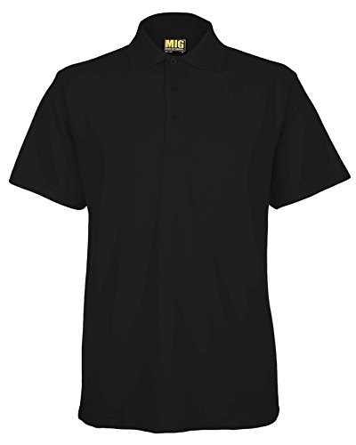 Mens Active Pique Polo T Shirts Sizes XS to 4XL In 8 Colours By MIG - WORK CASUAL SPORTS LEISURE