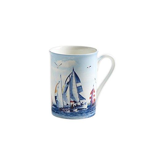 Maxwell & Williams S88006 Nautical Becher, Kaffeebecher, Tasse, Segeln, in Geschenkbox, Porzellan
