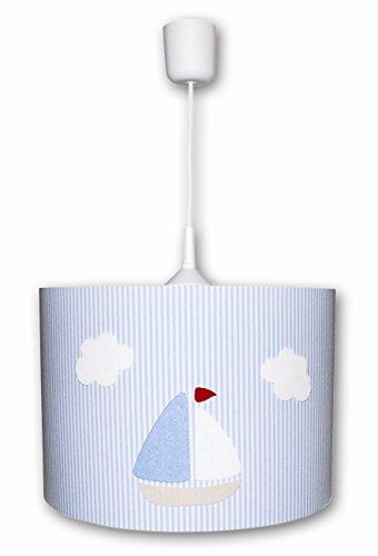 Waldi illumina strisce ciondolo luce con navetta, azzurro/bianco WAL-70268, 0