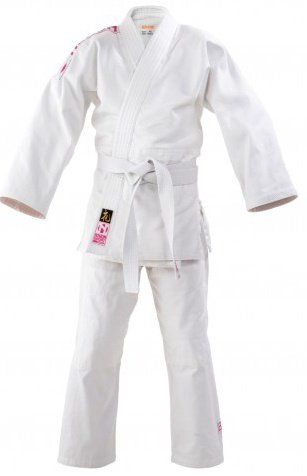Judogi rei ragazza bianco/rosa, taglia 150