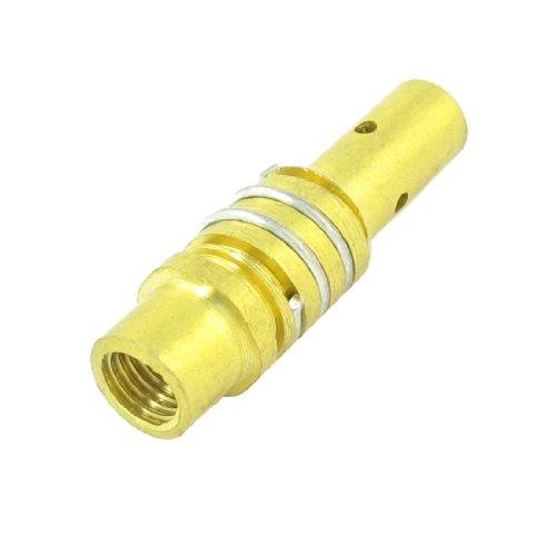 Sourcingmap - 15ak saldatura sostituzione di pistola parte femminile tono oro filettato titolare punta (Oro Diffusore)