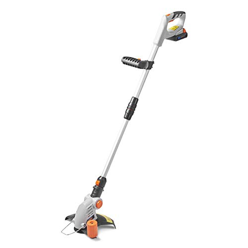 VonHaus Cordless Grass Trimmer with 20V MAX Battery, Charger & 12 x Plastic Blades Included - 180° Adjustable Head, 25cm Cutting Path & Telescopic Handle - Li-Ion G Range