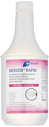Meditrade 00976D Medizid Rapid Flächenschnelldesinfektion, ohne Sprühkopf, Voll Viruzid, 1 L Flasche