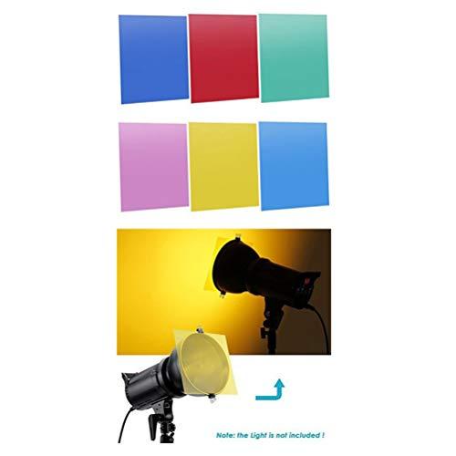 Hemobllo Transparenter Farbfilter Gel-Kunststoffplatten Korrekturlichtfilter 6 Farben