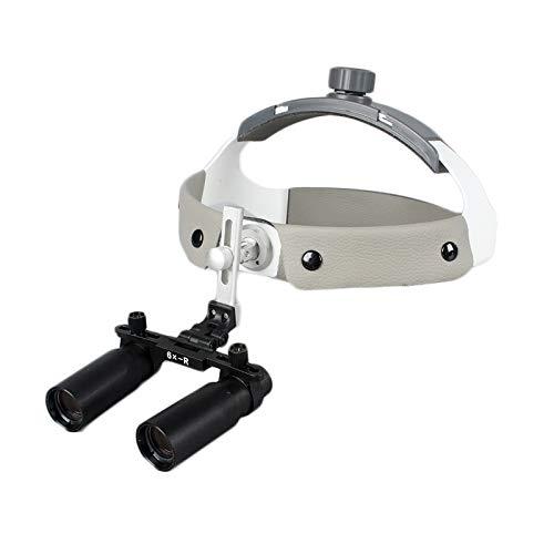 Magnifier Quirúrgico Binocular Loupes Quirúrgicas 6x550mm Lupa Vidrio Óptico con Lámpara Cabeza LED Equipo Laboratorio Dental Fauay