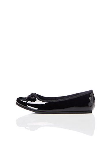 RED WAGON Bow, Girls' Ballet Flats Black (Black Patent) 1 UK (33 EU)