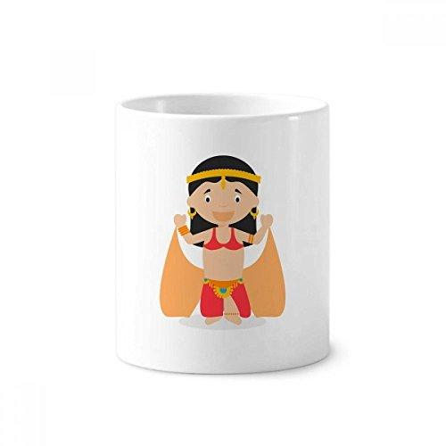 DIYthinker Traditionelle orientalische Tänzer Cartoon Keramik Zahnbürste Stifthalter Tasse Weiß Cup 350ml Geschenk 9.6cm x 8.2cm hoch Durchmesser