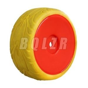 Tradico® TradicoBrand New 4xRC1:10 On Road Car Fish Scale Yellow Rubber Tyre+Red Imitate Smooth Wheel Rim