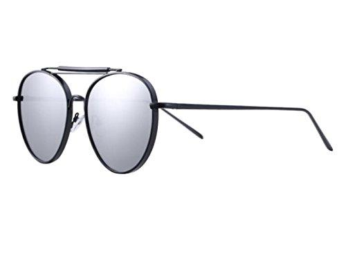 SHULING Sonnenbrille Offset Optische Sonnenbrillen Sonnenbrillen, Black Box/Silber Chip