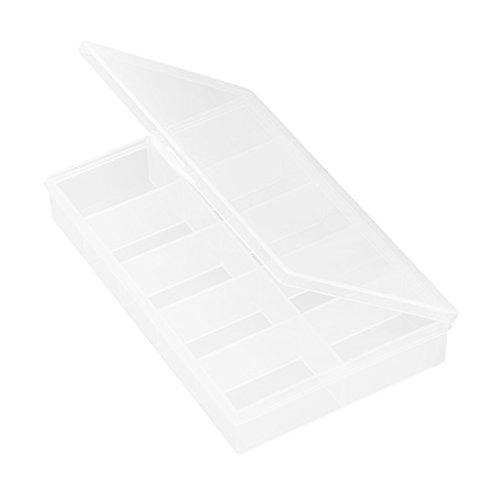 D DOLITY Abnehmbarer Aufbewahrungsbox 10 Innen Fach Werkzeugkiste für Handwerksteile, Metallteile (Schraube), Nähzubehör, Schmuck Zubehör, elektronische Teile
