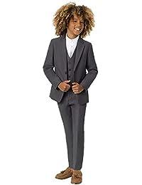 d71265103d85 Roco Boys Modern Fit Suit, 3 Piece Wedding Suit, Jacket, Waistcoat & Trouser