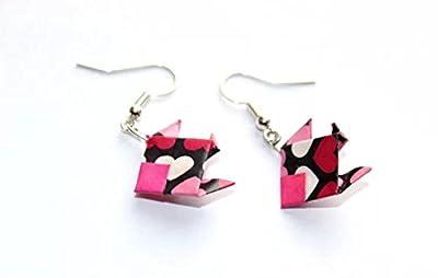 Boucles d'oreilles en origami poisson
