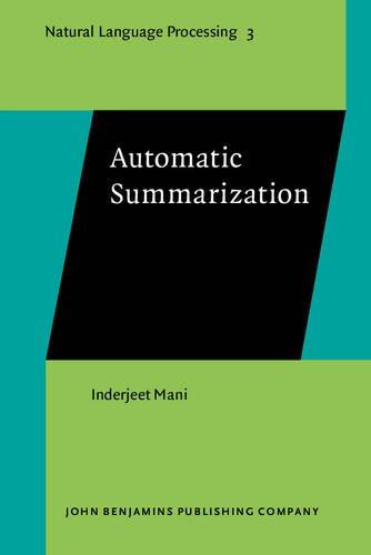 Automatic Summarization (Natural Language Processing) por Inderjeet Mani