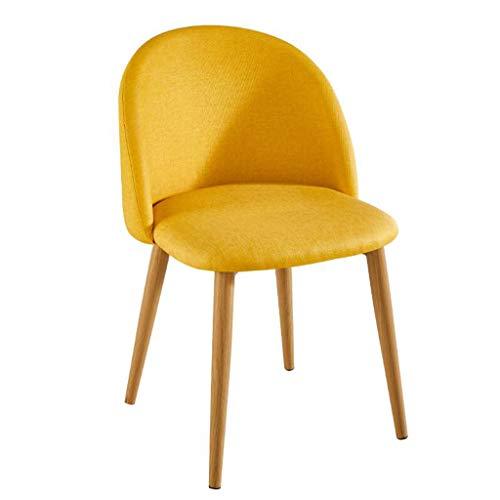 Fly Klapphocker C-K-P Freizeit Stuhl Rückenlehne Esszimmer Stuhl Stoff Stoff Pure Holz Stuhl Beine gelb Kreative Stuhl (Größe: 44 X 47 X 77 cm)