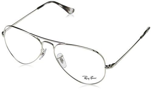 Ray-Ban Rayban Unisex-Erwachsene Brillengestell Aviator, Silber (Silver), 55