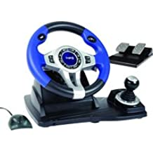 Wireless RF Steering Wheel and Pedals (PS3/PS2/PC) [Importación inglesa]