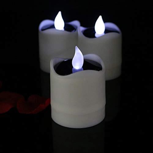 ADAHX LED-Kerze, LED-Ballenkerze, Light Energy Charging Cycle Waterproof Candle, für Hochzeit Geburtstagskunst-Kernen Party Decorations (6pcs/Set),WhiteFlash