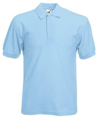 Pique Polo 65/35 T-Shirt von Fruit of the Loom S M L XL XXL XXXL verschiedene Farben S,Blau