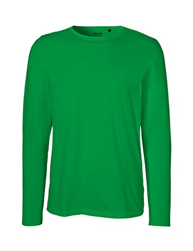 Energie Kostüm Grüne - Green Cat- Herren Langarm T-Shirt, 100% Bio-Baumwolle. Fairtrade, Oeko-Tex und Ecolabel Zertifiziert, Textilfarbe: grün, Gr.: XXXL