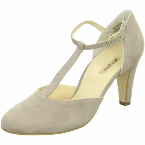 Paul Green Damen T-Steg-Pumps taupe Rauleder 38