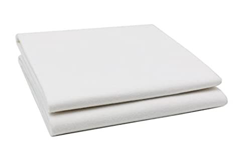 ZOLLNER® 2er Set wasserdichte Molton / Betteinlage / Inkontinenz-Matratzenauflage weiß,