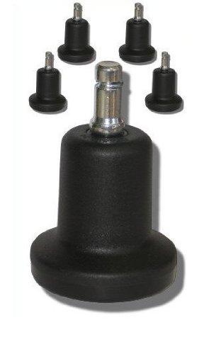 HJH Office - 619002 - Pack de 5 tapones para silla de oficina número 10, clavija 10 mm, 50 mm