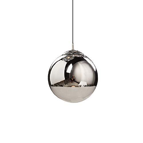 NUYAN chandelierGlas Kronleuchter Kugelform LED Deckenleuchten Moderne Runde Clear Chrome Lampenschirm hängen Lampe für Bekleidungsgeschäft Restaurant Bar S -