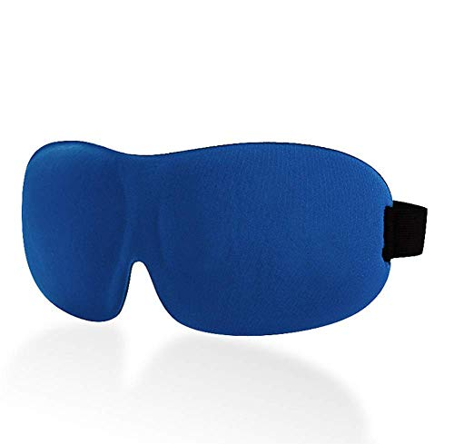 Schlafmasken 3D Augenmaske Schlafmaske komfortable 3D Verdunkelung mit Ohrstöpsel blau (Komfortable Ohrstöpsel)